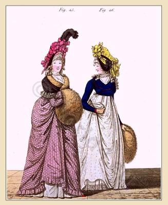 Regency Spencer. Gallery of Fashion. England Georgian, Regency era fashion. Neoclassical costumes.
