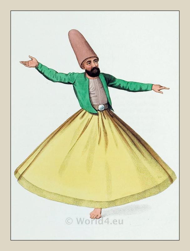 Dervish Dance Drawing Dancing Dervish of The Mevlevi