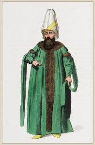 Capitan Pasha, Kapudan Pasha, Kaptan Paşa, Kaptan-i Derya. Historical Ottoman empire costumes.