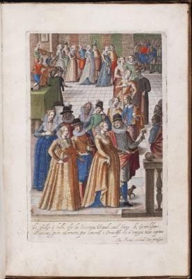 Italian Renaissance costumes. 16th Century fashion. Nobility court dress