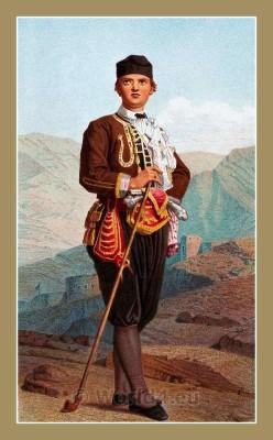 Traditional Serbian National Costumes. Man Folk dresses from Karlobag Croatia. MUŠKA NOŠNJA IZ KARLOBAGA