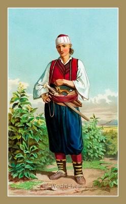 Traditional Serbian National Costumes. Man Folk dresses from Doljani Croatia. MUŠKA NOŠNJA IZ DOLJANI