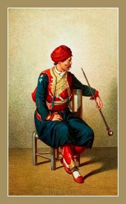 Traditional Serbian National Costumes. Folk dress from Ragusa Dubrovnik Croatia. MUŠKA NOŠNJA IZ DUBROVNIKA