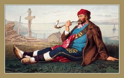 Traditional Serbian National Costumes. Folk Costumes from Karlobag Croatia. MUŠKA NOŠNJA IZ KARLOBAGA