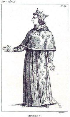 Charles V. Roi de France. Valois. Capetian. Middle Ages