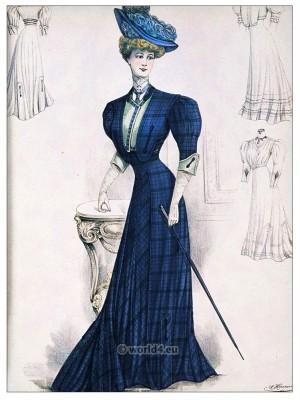 Belle Epoque costumes. Art nouveau costume. Fin de siècle fashion.
