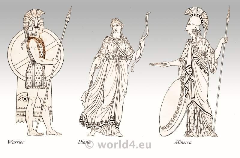 Ancient Roman Clothing Gods Warrior