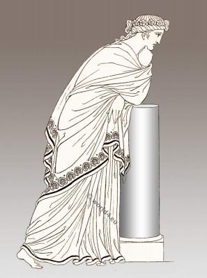 Hellenistic period Hairstyles. Ancient Greek Costume History. Grecian Ladies Head Dress.