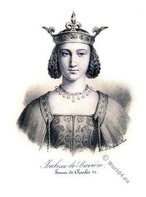 Isabeau de Bavière. Elisabeth von Bayern. Wittelsbach