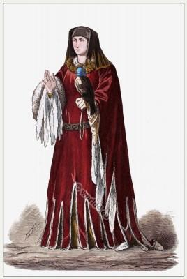 Costume Burgundian Nobility. Medieval Burgundy costume. 15th century costumes