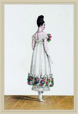 Coiffure Asiatique. Merveilleuses. France directoire, regency era fashion. Horace Vernet.