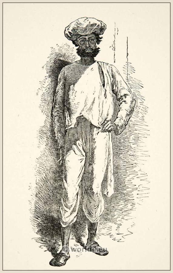traditional india pankawallah costume indian servant