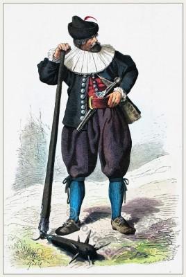 Austria Tirol folk costume. Franz Lipperheide.