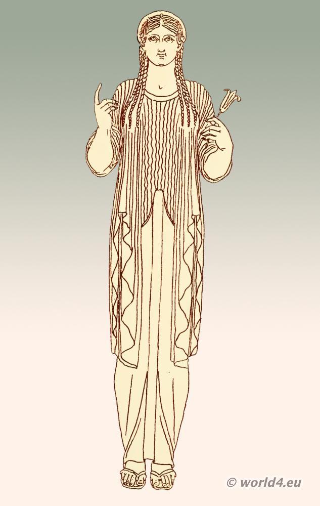 Minoan Greek Womens Fashion