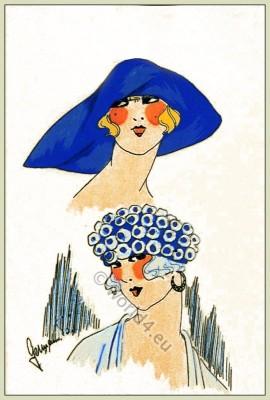 Simple Chic, Chapeaux, Art-deco, flapper, fashion, Très Parisien
