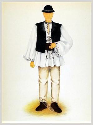 Alte Tracht aus Siebenbürgen, Rumänien.