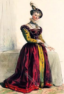 Tudor, costume, Mary Stuart, Queen, Elizabeth,16th century, fashion, history Renaissance