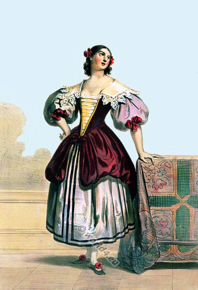Flemish Woman In 18th Century