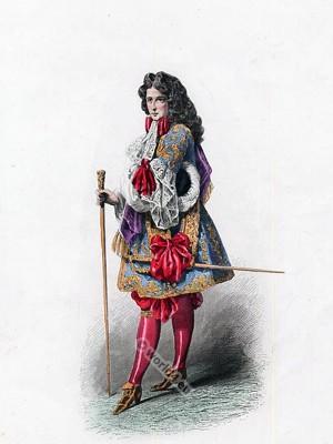 ... Ancien Régime fashion. Costume court of Louis XIV.  Costume History