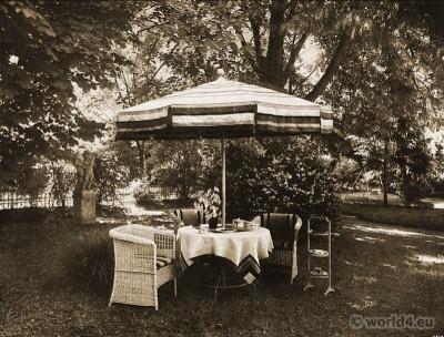 Palais Stourdza, Art deco, interior, tea table,