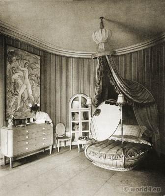 Art deco, interior, beedroom, Painter, Ludwig Kainer, Palais Stourdza, Otto Lendecke