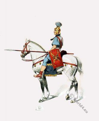 Roman cavalry. Ancient military. Roman soldier