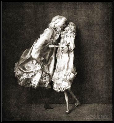 Dolls for the showcase. Lotte Pritzel. Art doll Artist. Art Deco costume dolls.
