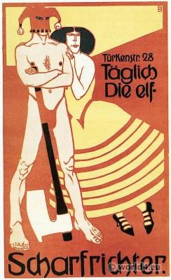 Bruno Paul Executioner Poster art. Simplicissimus Munich. Art nouveau design and Illustration.