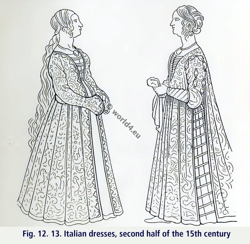 English dress styles 15-16 century