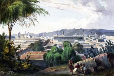 San Luis-Potosi. Mexican town. Topography. Carl Nebel.