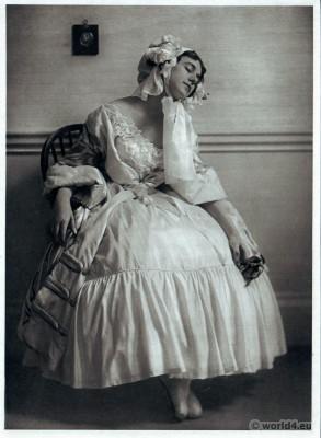 Tamara Karsavina, Le Spectre de la Rose. Russian Ballet. Dance costume. Famous Opera