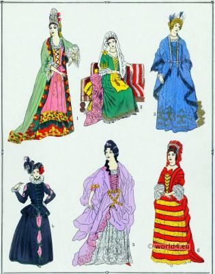 Robes, Louis XIV, fashion history, 17th century, baroque