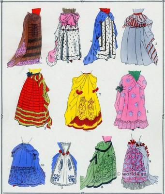Skirts Louis XIV fashion. 17th century French costumes. Paul Louis Victor de Giafferri. Baroque Clothing
