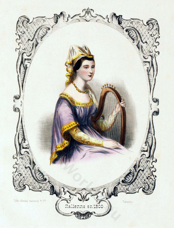 Gothic Period Fashion Italian Noblewoman 13th Century