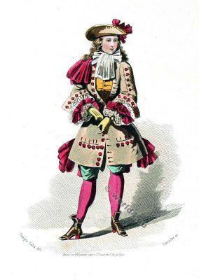 Page, Louis XIV, Versailles, costume