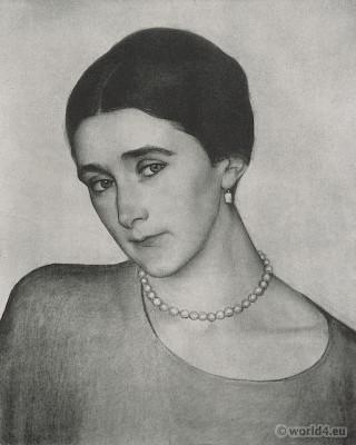 Prinzess Obolenskaja. Ava Alice Muriel Astor. Art deco fashion.