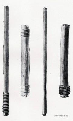 Invitation Sticks. Native Americans initiation. Indian Shamans.