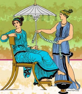Ancient Greece Strophĭon breast-band costume. Undergarment. Antique Brassiere