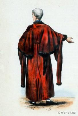 Traditional Alderman national costume. Alderman Folk clothing. England Ethnic dress.