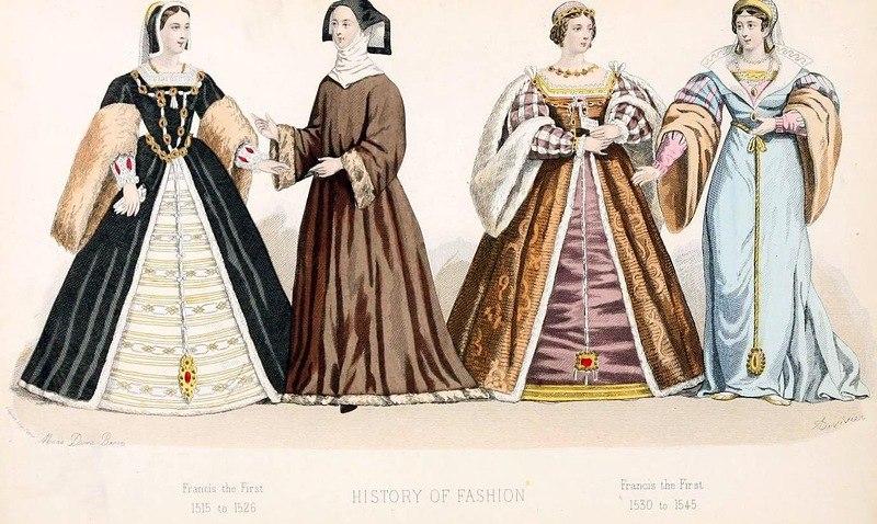 Renaissance fashion. & Francis I. 1515 to 1545. Renaissance fashion. | Costume History