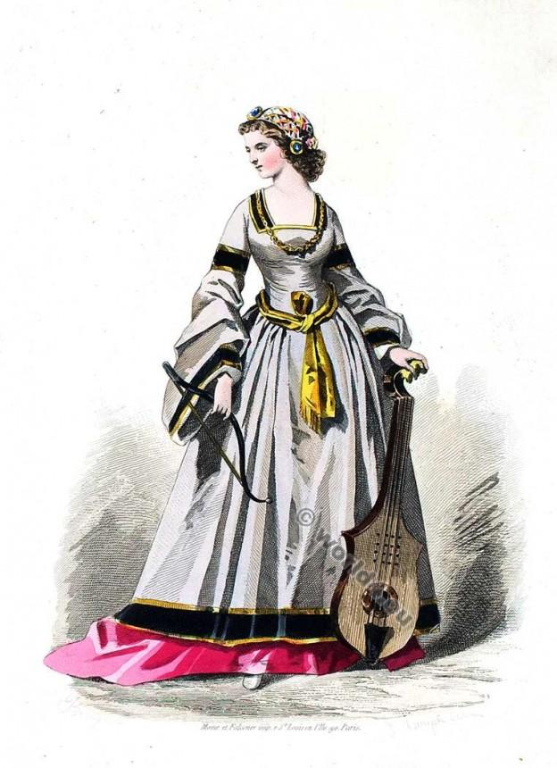 Женская Одежда 16 Века