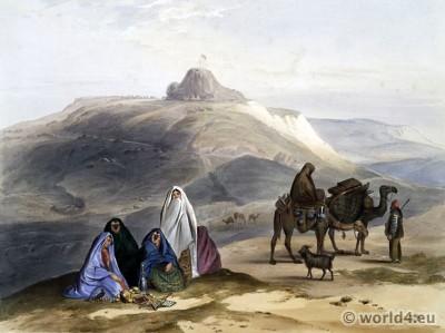 First Afghan War. Kelaut-i-ghiljie. Afghan folk dresses. Traditional Afghanistan National Costumes.