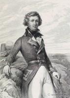 Portrait Louis-Philippe D´Orléans, Duc De Chartres. French Revolution History. 18th militaria century costume.