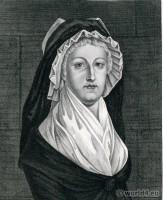 Emprisonnement Queen Marie Antoinette, Conciergerie, Widow Capet, French Revolution history costumes