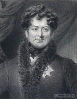 Portrait George IV. French Revolution History. Regency costume