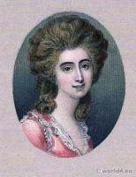 Portrait Grace Dalrymple Elliott. French Revolution History. Directoire costume. Mistress.