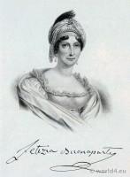 Portrait Letizia Buonaparte. French Revolution History. Directoire costume