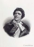 Jean Paul Marat. Portrait French Revolution History. Directoire costume