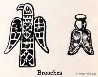 Merovingian Brooches. Frankish jewellery. Bee Queen Brooch