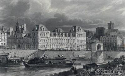 Paris Hôtel de Ville. Place de Grève.